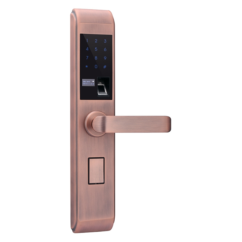 GD X5 semiconductor fingerprint lock red bronze